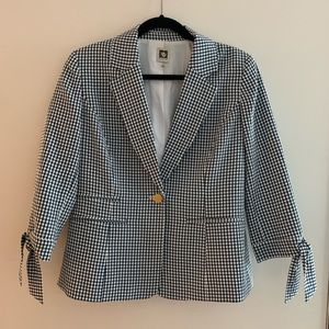 Stripped Blue and White Blazer